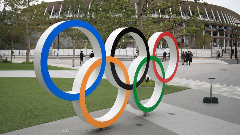 Olympic rings outside Olympic stadium to be conducted without fans