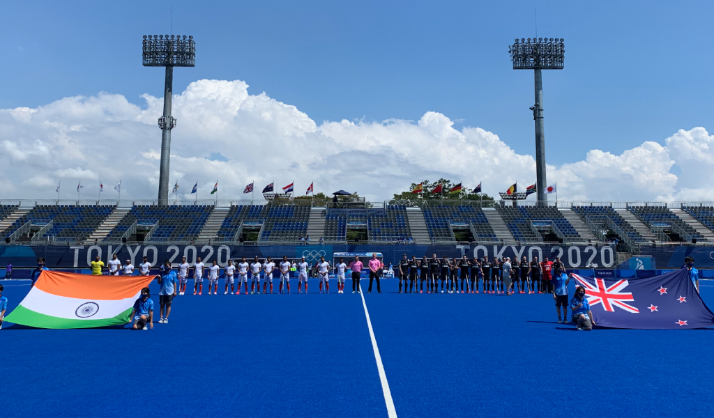 Kiwi men go down 3-2 vs a strong India side in the opening game of the Tokyo Olympics